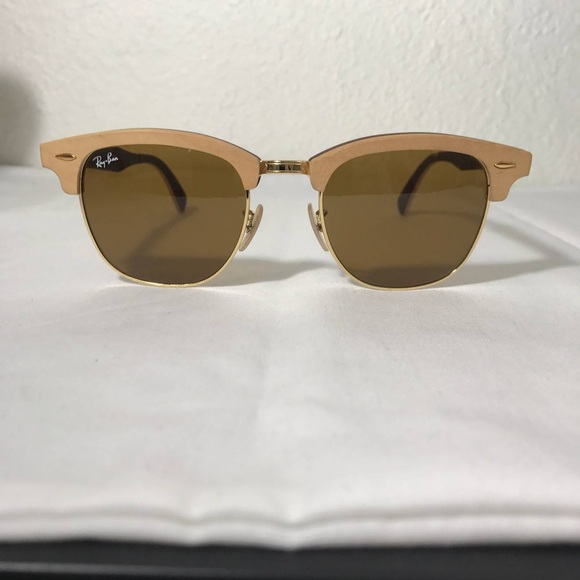 Ray-Ban Accessories | Rayban Wooden Frame Clubmaster Limited | Poshmark
